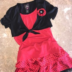 Self Esteem • red & black dressy outfit sz 7 girls